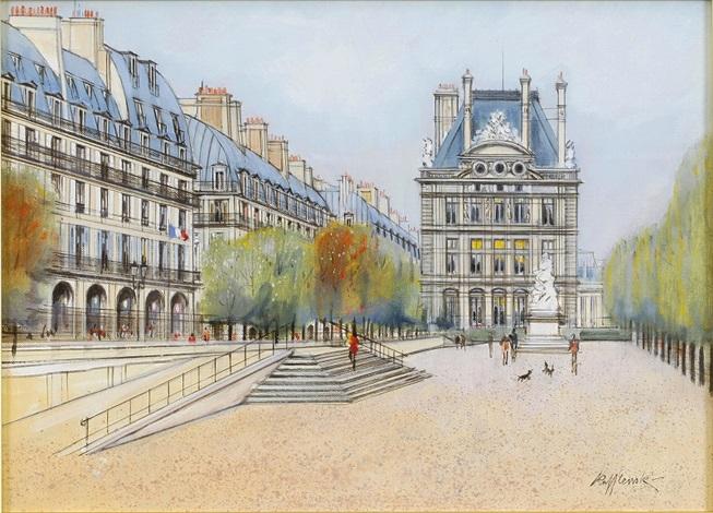 les tuileries rue de rivoli by h rolf rafflewski