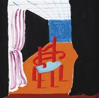 chair with a mind of its own by david hockney