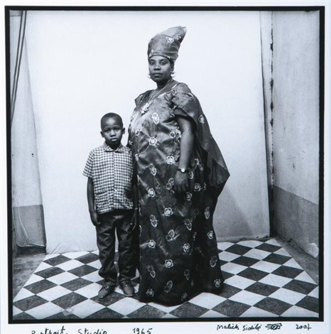 portrait studio by malick sidibé