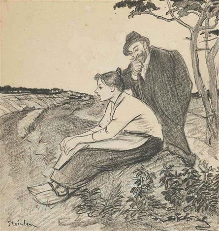deux paysans by théophile alexandre steinlen