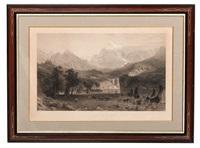 the rocky mountains (lander's peak, engraved by james smillie by albert bierstadt