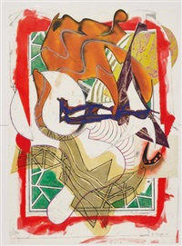 hark!, from the wave ii by frank stella