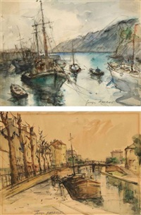 le canal st. denis, le vert galant, le pont neuf, bretagne, bord de mer, normandie, le pont marie (7 works) by georges dominique rouault
