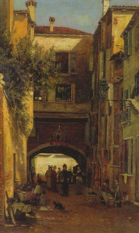 gasse in venedig by hermine lang-laris