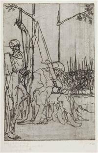bauerntotentanz anno 1626, der schlafende posten by aloys (wachlmayr) wach