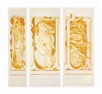 pupa i, ii, iii: yellow (3 works) by graham sutherland