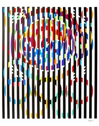 message of peace (from the official arts portfolio of the xxivth olympiad, seoul, korea) by yaacov agam