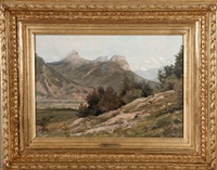 vue sur la vallée de l'isère et la chartreuse by jean-célestin-tancrède bastet
