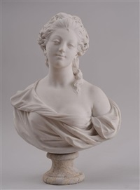 bust of a noble woman by jean-baptiste pigalle
