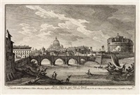 raccolta delle piu belle vedute antiche, e moderne di roma (10 works) by giuseppe vasi