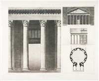 fragment d'architecture antique (+ 5 others; set of 6) by hector jean baptiste espouy