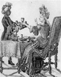 femme de qualité au rafraichissement des liqueurs by nicolas arnault