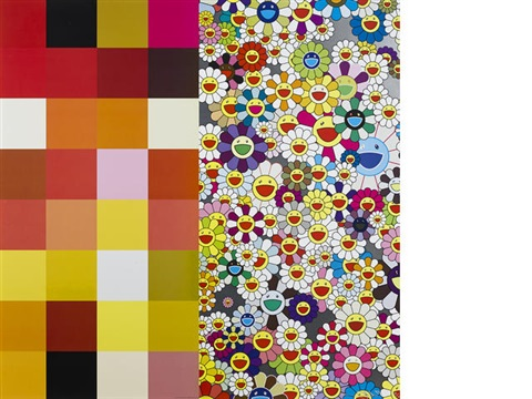 acupunctureflowers checkers by takashi murakami
