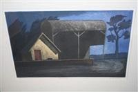 barn with tree by john mcnulty