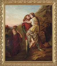 moses and zipporah by johann friedrich overbeck