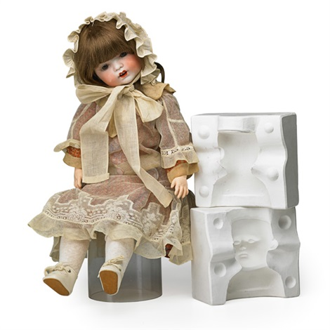 Doll and plaster head mold 2 works by Fulper Pottery on artnet