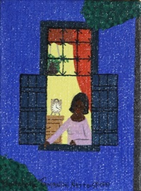 untitled 4 (woman at window at night) by rodolpho tamanini netto