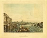 a south view of somerset house from waterloo bridge by thomas hosmer shepherd