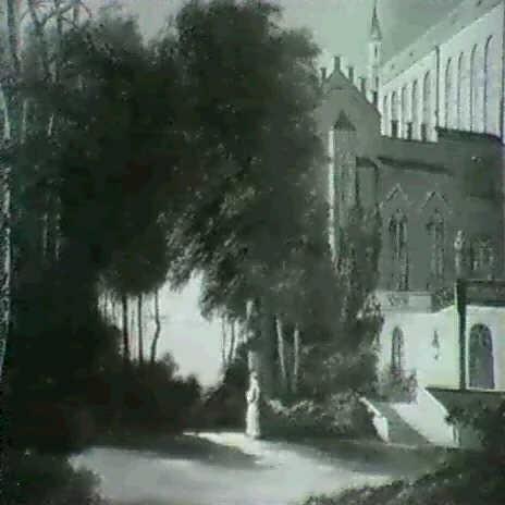klosterhof bei nacht by joseph gerstmeyer