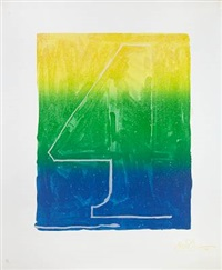 figure 4 (from color numeral series) by jasper johns