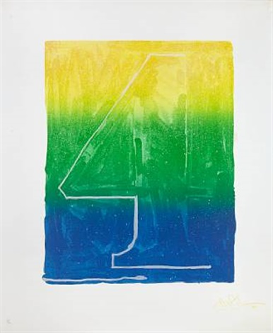 figure 4 from color numeral series by jasper johns