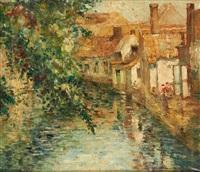 le canal ensoleillé by marguerite aers