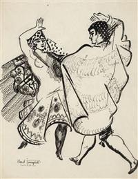 spanska flamencodansare by kurt jungstedt