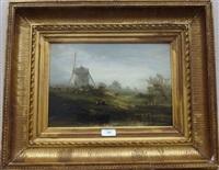 paysage au moulin by charles hoguet
