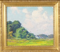 landscape with house by george a. renouard