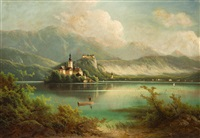 bled in slowenien by ferdinand lepie