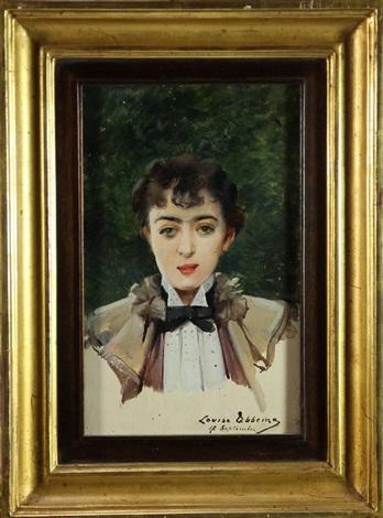 portrait de mademoiselle luppé portrait de monsieur luppé fils pair by louise abbéma