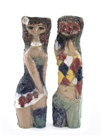 figure (+ another; pair) by fantoni