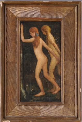 two nude girls by arthur bowen davies