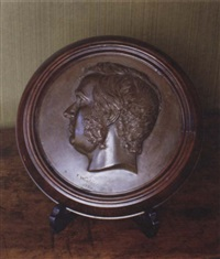 a portrait medallion of sir james martin by thomas woolner