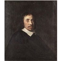 portrait of a gentleman, half length, wearing black by ludolf de jongh