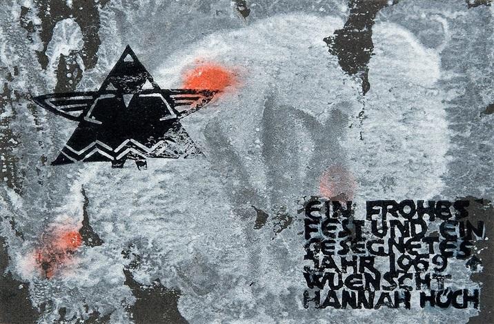 ohne titel weihnachtskarte ot geometrische komposition monotype lrgr 2 works by hannah höch