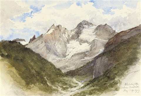 blümlis alp from kandersteg by thomas graham jackson