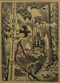 crows in march by charles ephraim burchfield