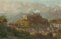 blick auf hohensalzburg by franz kulstrunk
