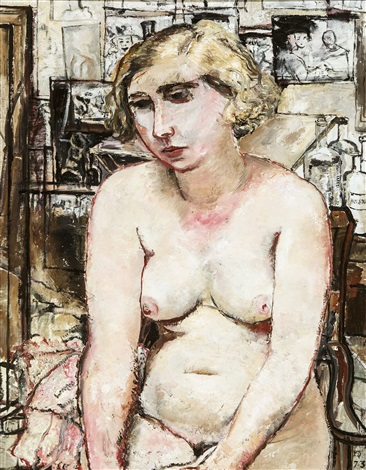 nu dans latelier by paul delvaux