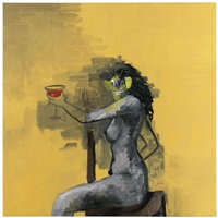 the cocktail drinker's wife by george condo