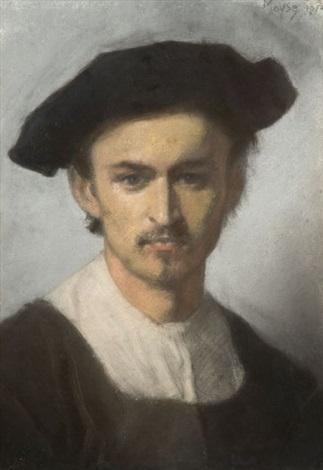 autoportrait présumé de lartiste by edouard moyse