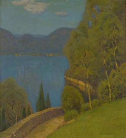 varenna lake como by charles warren eaton