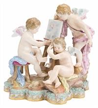 allegorie der malerei (model 5) by michel victor acier