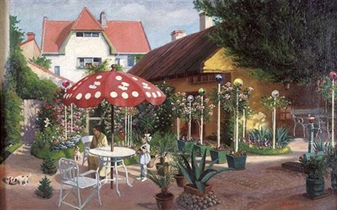 in the garden by adolf j jelinek alex