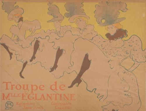 la troupe de mademoiselle eglantine by henri de toulouse lautrec