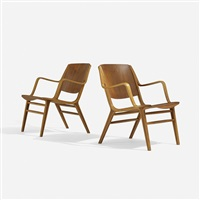 ax chairs, pair by orla molgaard-nielsen and peter hvidt