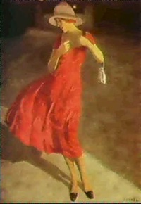 the lady in red by poul corona
