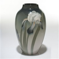 rookwood iris vase by sallie (sara elizabeth) coyne