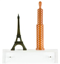 untitled (effeil tower, pepper mill) by haim steinbach